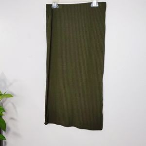 Forever 21 Knit Stretch Skirt Green Small